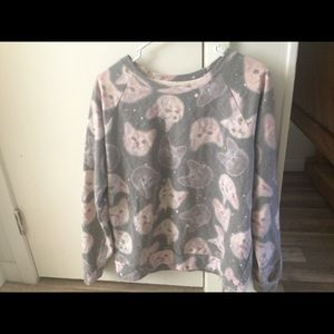 CLOSET CLEAR OUT Cute Kitty Cat Crew Neck Sweater
